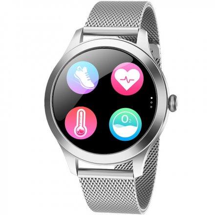 Smartwatch Garett Lady Naomi Pro RT srebrny z bransoletą