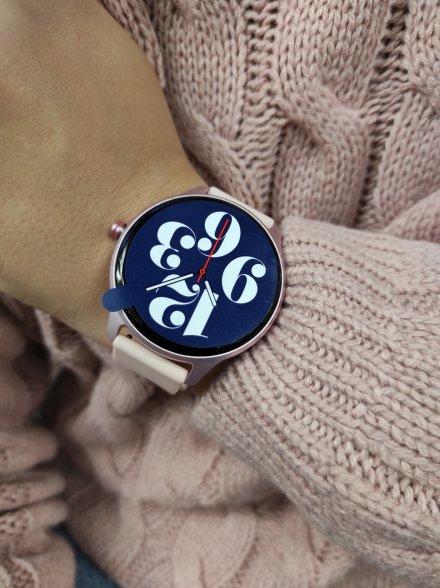 Smartwatch Garett Lady Olivia RT różowy z paskiem
