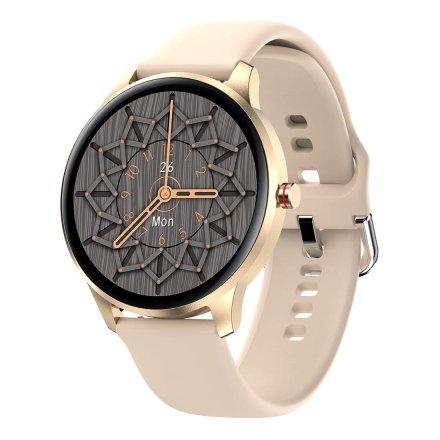Smartwatch Garett Lady Olivia RT złoty z paskiem