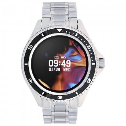 Smartwatch Garett Men Ocean RT srebrno-czarny z bransoletą