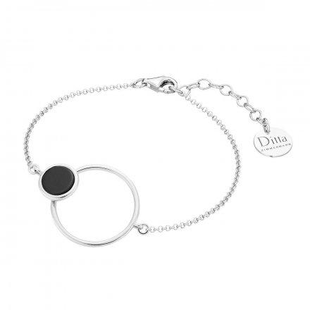 Bransoletka srebrna z onyksem Biżuteria Ditta Zimmermann DZB372/ONX/R