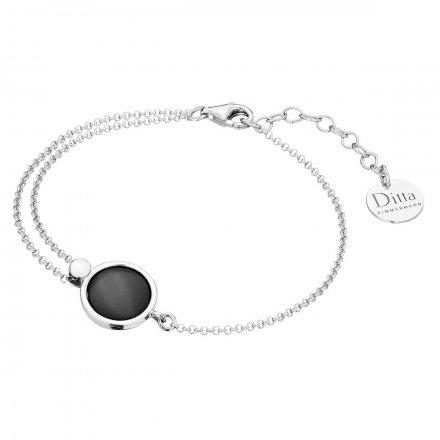 Bransoletka srebrna z onyksem Biżuteria Ditta Zimmermann DZB381/ONX/R