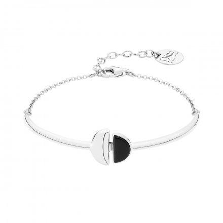 Bransoletka srebrna z onyksem Biżuteria Ditta Zimmermann DZB392/ONX/R