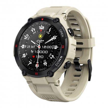 Smartwatch Garett Sport Combat RT beżowy z paskiem