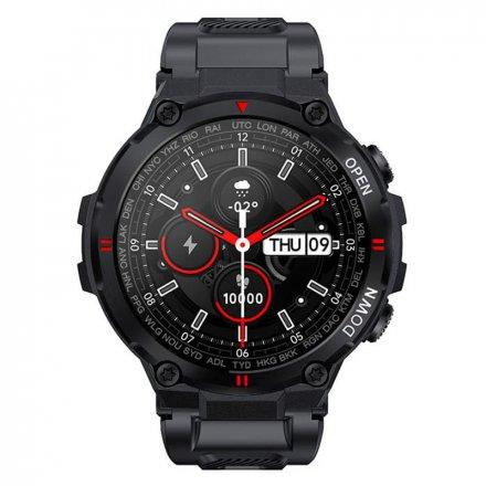 Smartwatch Garett Sport Combat RT czarny z paskiem