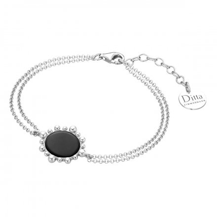 Bransoletka srebrna z onyksem Biżuteria Ditta Zimmermann DZB411/ONX/R