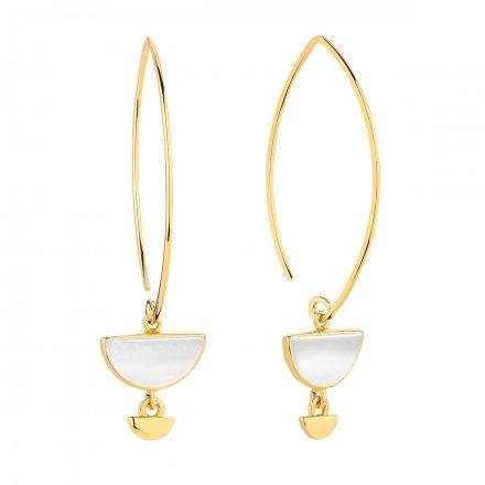 Kolczyki złote z masą perłową Biżuteria Ditta Zimmermann DZK345/MPB/265/585