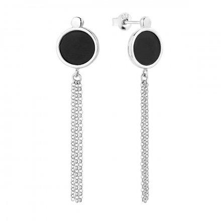 Kolczyki srebrne z onyksem Biżuteria Ditta Zimmermann DZK380/ONX/R