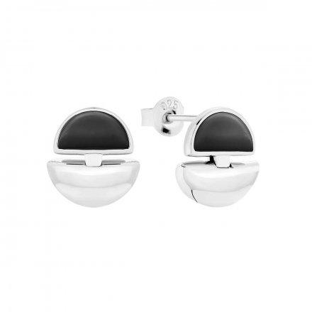 Kolczyki srebrne z onyksem Biżuteria Ditta Zimmermann DZK392/ONX/R