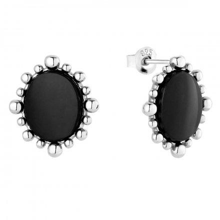 Kolczyki srebrne z onyksem Biżuteria Ditta Zimmermann DZK411/ONX/R