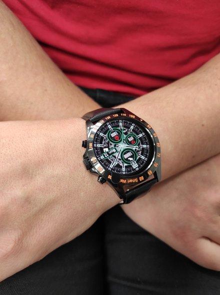 Smartwatch Garett V8 RT czarny z paskiem