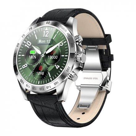 Smartwatch Garett V8 RT srebrno-czarny z paskiem