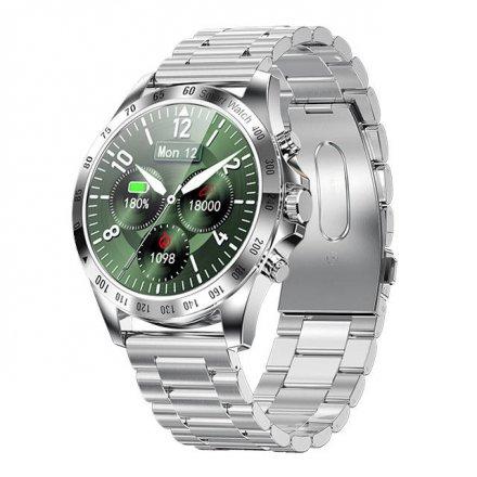 Smartwatch Garett V8 RT srebrny z bransoletą