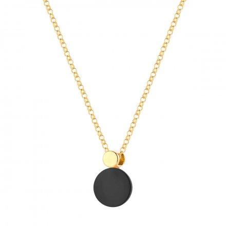 Naszyjnik złoty  z onyksem Biżuteria Ditta Zimmermann DZN255/ONX/287/585