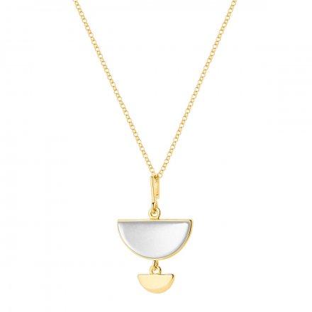 Naszyjnik złoty z masą perłową Biżuteria Ditta Zimmermann DZN344/MPB/380/585