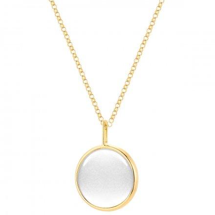Naszyjnik srebrny pozłacany z masą perłową Biżuteria Ditta Zimmermann DZN393/MPB/Z