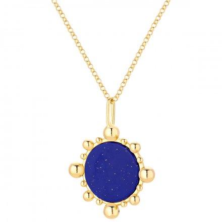 Naszyjnik srebrny pozłacany z lapis lazuli  Biżuteria Ditta Zimmermann DZN414/LL/Z