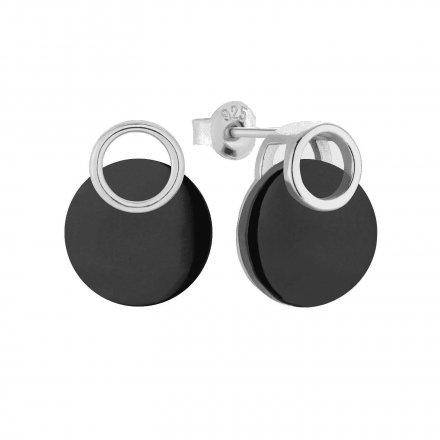 Kolczyki srebrne z onyksem Biżuteria Ditta Zimmermann DZK260/ONX/R