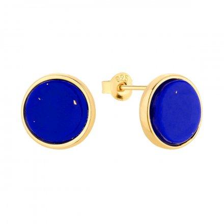 Kolczyki srebrne pozłacane z lapis lazuli Biżuteria Ditta Zimmermann DZK393/LL/Z