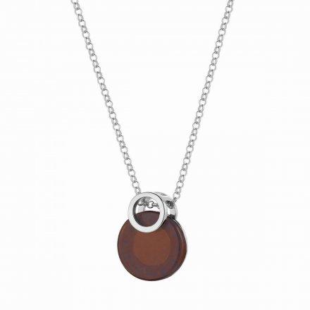 Naszyjnik srebrny z bursztynem Biżuteria Ditta Zimmermann DZN259/BUR/R