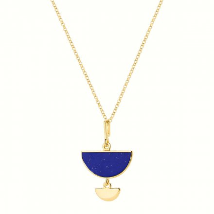 Naszyjnik srebrny pozłacany z lapis lazuli Biżuteria Ditta Zimmermann DZN344/LL/Z