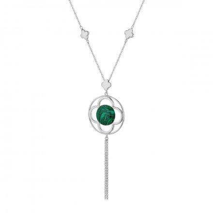 Naszyjnik srebrny z malachitem Biżuteria Ditta Zimmermann DZN357/MRC/MAL/R