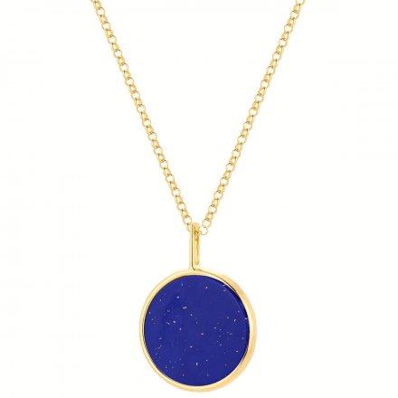 Naszyjnik srebrny pozłacany z lapis lazuli Biżuteria Ditta Zimmermann DZN393/LL/Z
