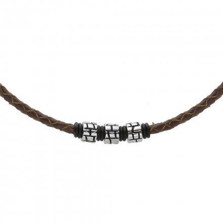 Biżuteria Manoki Skórzany naszyjnik męski WA273A