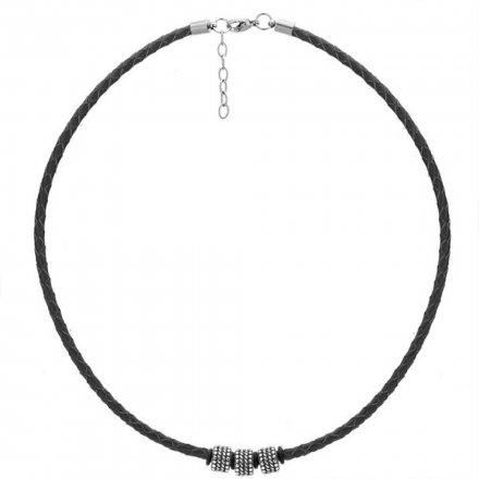 Biżuteria Manoki Skórzany naszyjnik męski WA507B