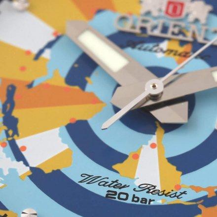 ORIENT RA-AA0E04Y09B Zegarek Męski Japońskiej Revival World Map AA0E04Y09B