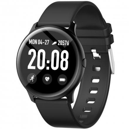 Czarny smartwatch męski damski Rubicon RNCE40 PRO