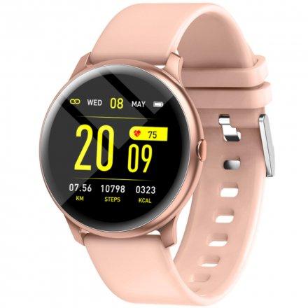 Różowy smartwatch damski Rubicon RNCE40 PRO