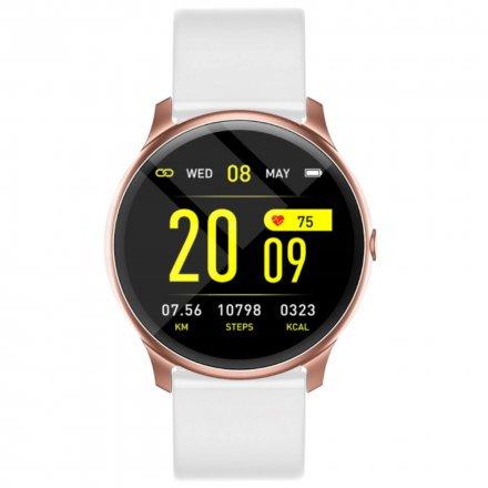 Różowo-biały smartwatch damski Rubicon RNCE40 PRO