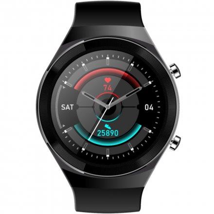 Czarny smartwatch męski damski Rubicon RNCE68