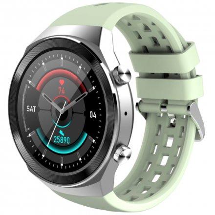 Srebrno-zielony smartwatch męski damski Rubicon RNCE68