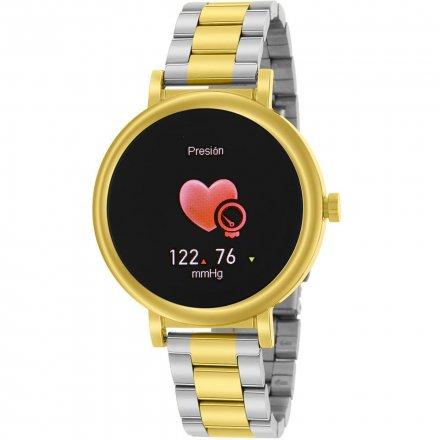 Złoty Smartwatch Marea z bransoletką w bikolorze B61002-4