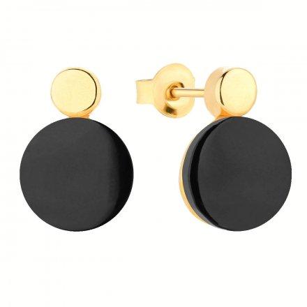 Kolczyki złote z onyksem Biżuteria Ditta Zimmermann DZK256/ONX/195/585