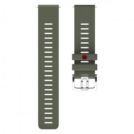 Polar Pasek 22mm silikonowy zielony M/L