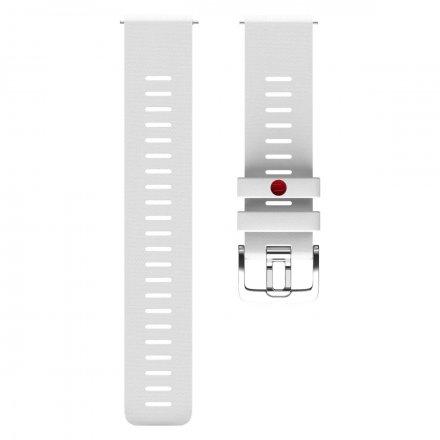 Polar Pasek 22mm silikonowy biały S/M