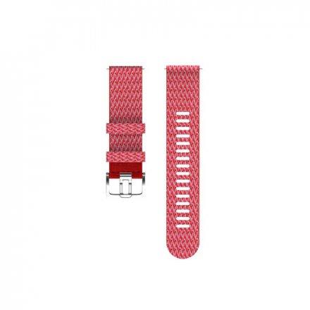 Polar Pasek 22mm tekstylny czerwony S/M