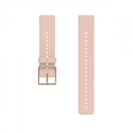 Polar Pasek 20mm silikonowy różowo-złoty S-L