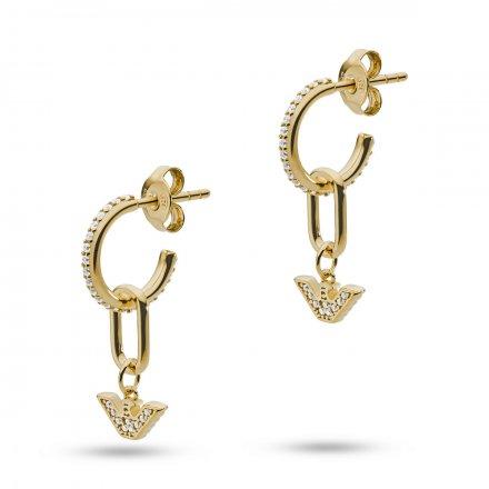 Złote kolczyki damskie Emporio Armani EG3465710 Essential Oryginalna Biżuteria EA