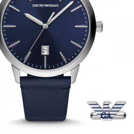 Zegarek Emporio Armani AR80042 + Spinki do mankietów Komplet EA Ruggero