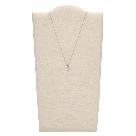Srebrny zestaw Fossil damski kolczyki+naszyjnik JF03765040