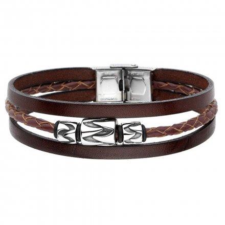 Biżuteria Manoki skórzana bransoletka męska BA846B