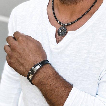 Biżuteria Manoki skórzana bransoletka męska BA886BM