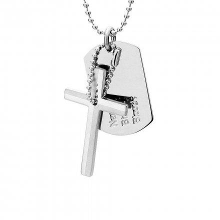 Biżuteria Manoki Stalowy naszyjnik męski WA010