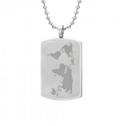 Biżuteria Manoki Stalowy naszyjnik męski WA239