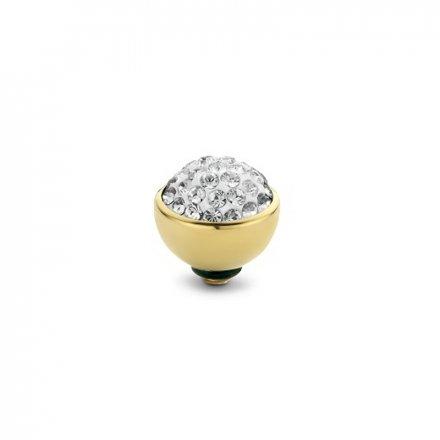 Element wymienny Meddy Melano Twisted TM74 Shiny 8 mm Złoty Crystal