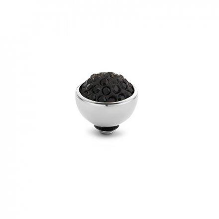 Element wymienny Meddy Melano Twisted TM74 Shiny 8 mm Srebrny Jet Black